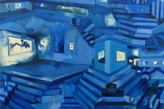 'Ida in Blue II', Oil on Linen, 120 x 90cm, 2017
