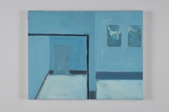 'Mirror Blue', 27 x 35 cm Oil on Linen 2012