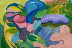 'Landscape in a Bowl', Acrylic on Arches Paper, 56 x 76cm, 2020