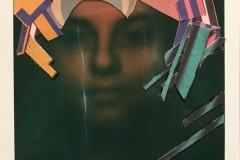 'Portrait of a Girl', Collage on Polaroid, 11 x 9 cm, 2019