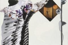 'Diamond Bird', Free Frieze series, Mixed Media Collage, 2016