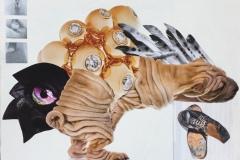 'Diamond Dog', Free Frieze series, Mixed Media Collage, 2016