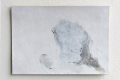Thank You 2 (Series of Marian Goodman PV Invites), Pencil on Card, 2016